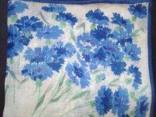 1940-50's Handkerchief - Blue Carnations