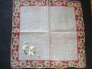 Vintage Handkerchief Floral Embroidery