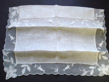 Wedding Handkerchief - for Bride - French Net Lace