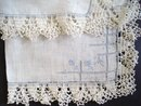 Wedding Handkerchief - Lace and Embroidery