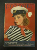 1941 CORONET Magazine Cover Girl Miss Stark