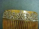 Antique Jewelled COMB - Marcasites