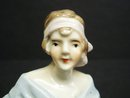 Beautiful Pincushion Half Doll    Flapper Era  Porcelain
