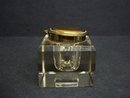 Antique Crystal  Inkwell