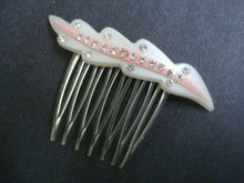 Vintage Hair Comb and Rhinestones