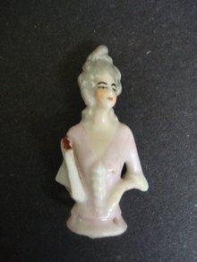 Precious Miniature Half Doll    Tiny Pin Cushion Doll