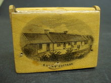 Mauchlineware Match Box Burn's Cottage