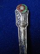 Filigree Silver Souvenir Spoon ACORES