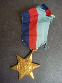 1939 - 45 STAR COPPER MEDAL