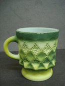 Art Deco Coffee Mug Green Colour