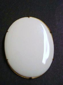 Victorian Porcelain Brooch Large