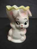 Fabulous Vintage Egg Cup - Pink Bunny
