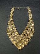 Unique Bib Necklace - Gold Tone