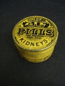 Round Tin Box BDC Gin Pills for the Kidneys