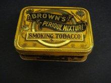 Antique Tobacco Tin Box Brown's