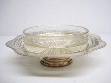 Silver Butter Dish / Glass Liner