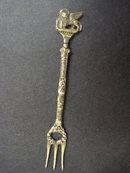 Figural Condiment Fork - Italian Silver