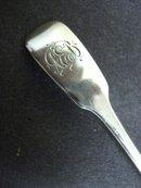 Antique Sterling Spoon Mono A E B