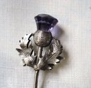 Sterling Fork Figural Scottish Thistle