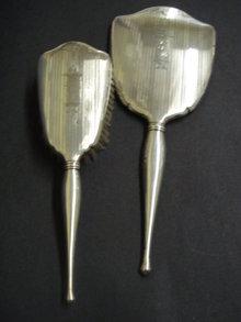 Sterling Mirror and Brush Set Mono ADM