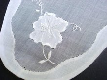 Finest Organdy Doily Shadow work