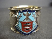Napkin Ring Crest of PEEBLES