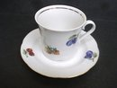 Pretty Cup and Saucer Fine East German Porcelain
