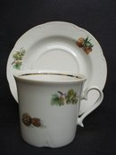Very Pretty Cup and Saucer Fine East German Porcelain