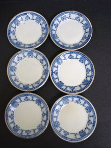 Butterpats Flow Blue Set of Six