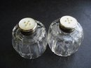 Salt/Pepper Shakers Sterling Tops