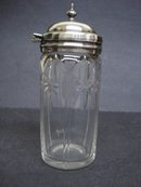 Mustard Jar Cut Crystal/Silver