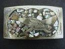 Beautiful Vintage Silver Belt Buckle