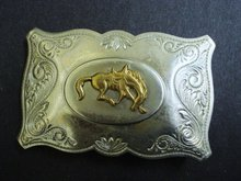 Western Style Men's Belt Buckle Silver Tone