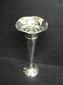 Sterling Trumpet Vase by Sheffield England
