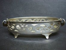 Fantastic Antique Silver Dish with Glass Liner