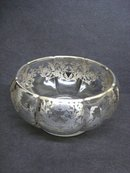 Silver Overlay Bowl Centrepiece