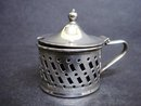 Silver Condiment Pot with Glass Liner