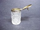 Mustard jar Cut Glass and Silver