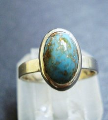 Marvelous Vintage Sterling  and Turquoise Ring