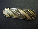 Deco Vintage Damascene Brooch Super Quality Made in Spain