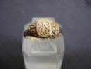 Antique Gold  Signet Ring Monograms
