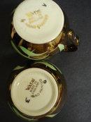 Cream and Sugar Set Copper Luster