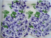 Lovely Handkerchief Hanky Purple Violets