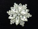 Crystal Vintage Brooch Sparkling Flower