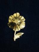 Fantastic Blue Flower Brooch Beautiful Enamel Blue/Gold