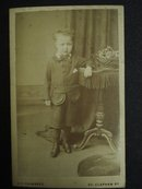 Victorian Cabinet Photo Handsome Little Boy