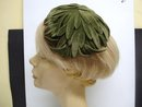 Figural Ladies Hat Green Velvet