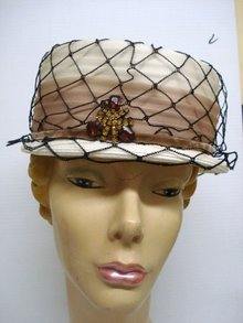 Elegant Ladies Hat with Rhinestone Brooch