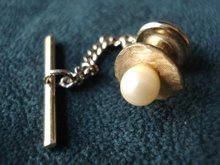 Pearl Tie Pin Tack - Cultured Pearl