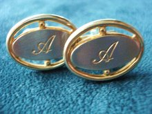 Vintahe Cuff Links Monogram A